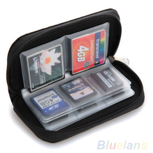 Black SD SDHC MMC CF Micro SD Memory Card Storage Carrying Pouch bag  Case Holder Wallet 026E