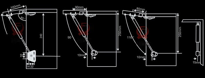 Мебельные петли, Скобы, Замки NED 100N 10 ,  NED-6301