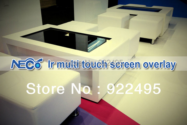 Fast Free Shipping 42 Inch Real 2 points IR Touch Overlay Kit, Not Virtual Dual-Touch, Uniform Resolution(China (Mainland))