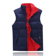PURPLE LABEL Small Horse 2015 Men Winter Down Jackets 80% White Duck Down Men's Vest Double-sided wear Clothing Sleeveless (China (Mainland))