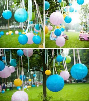 8 inch Round Chinese Paper Lantern Birthday Party decoration wedding decoration DIY decor gift craft(China (Mainland))