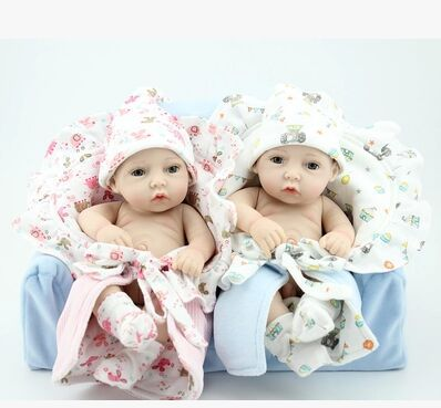 11Inch Silicone baby reborn dolls, lifelike doll reborn babies toys for girl princess & prince gift brinquedos for kids baby(China (Mainland))