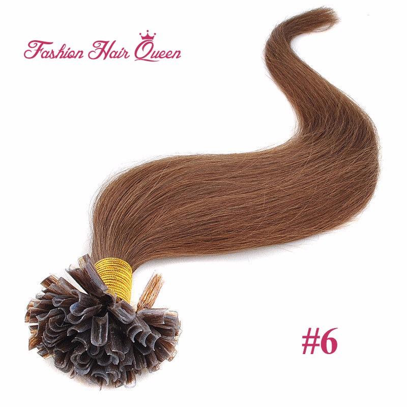20″ 1g/strand 100pcs Body Wave Wavy Nail U Tip Hair Extensions Brazilian Remy Virgin Human Hair Keratin Capsule #24 Blonde