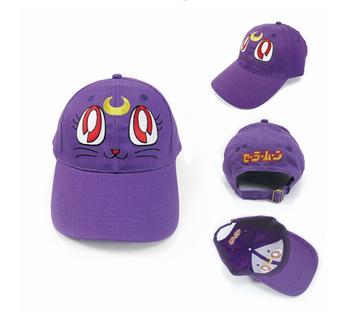 Value Hot Sailor Moon Purple Cat Luna baseball hat March Hare sun hat Animation around gift