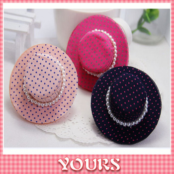 (#JH023) Fashion Design Dot Women's Elastic Hair Bands Hat Style with Pearl Hair bands Ropes Candy Color Hair Accessories