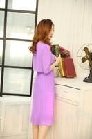 vestidos 2015 новой моды корейский стиль конфеты цвет slim женщин шифоновое платье Весна лето элегантный пляжный богемной платье 278