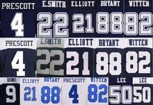 100% stitched,best,Men's Ezekiel new Elliott Dak daft Prescott Emmitt white Smith Jason blue Witten Dez elite Bryant jersey(China (Mainland))