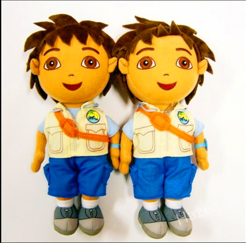 "New Dora the Explorer Go Diego Go Plush Dolls Soft Sutffed Toy 30"" Kids Gift(China (Mainland))"