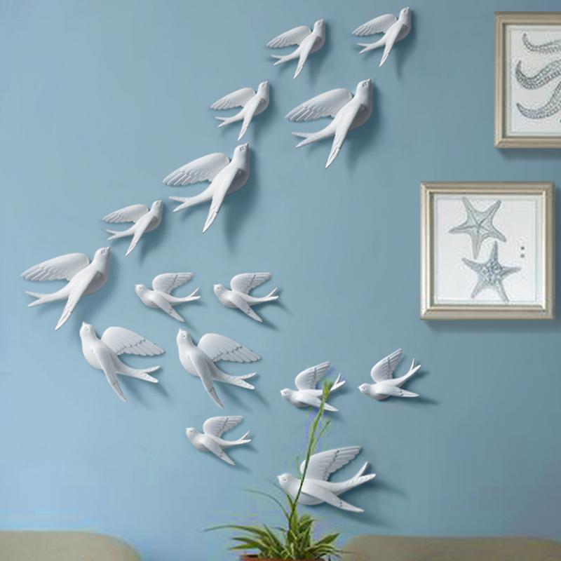 Achetez en gros oiseaux en c ramique de mur en ligne des for Decoration murale oiseau 3d