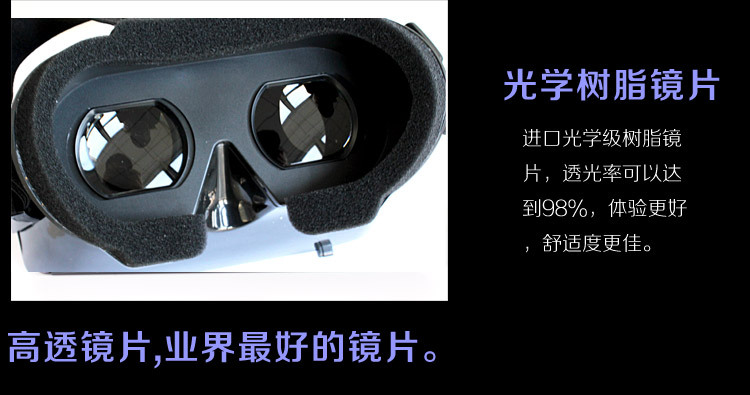 Head Mount ABS Smartphones Mirror for 3 5 6 Screen Movies Games 3D Google Cardboard Viewing