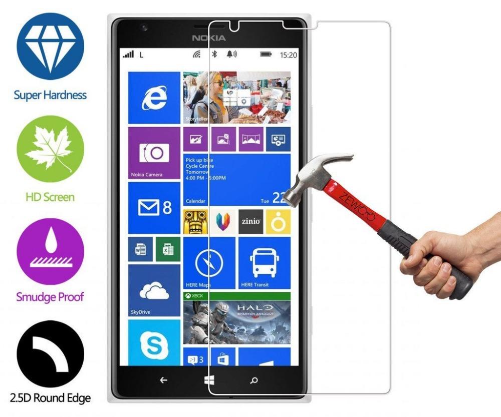 Гаджет  High Quality 0.3mm Tempered Glass Film For Nokia Lumia 1520 9H Hard 2.5D Curve Edge Ultra Thin Screen Protecter None Телефоны и Телекоммуникации