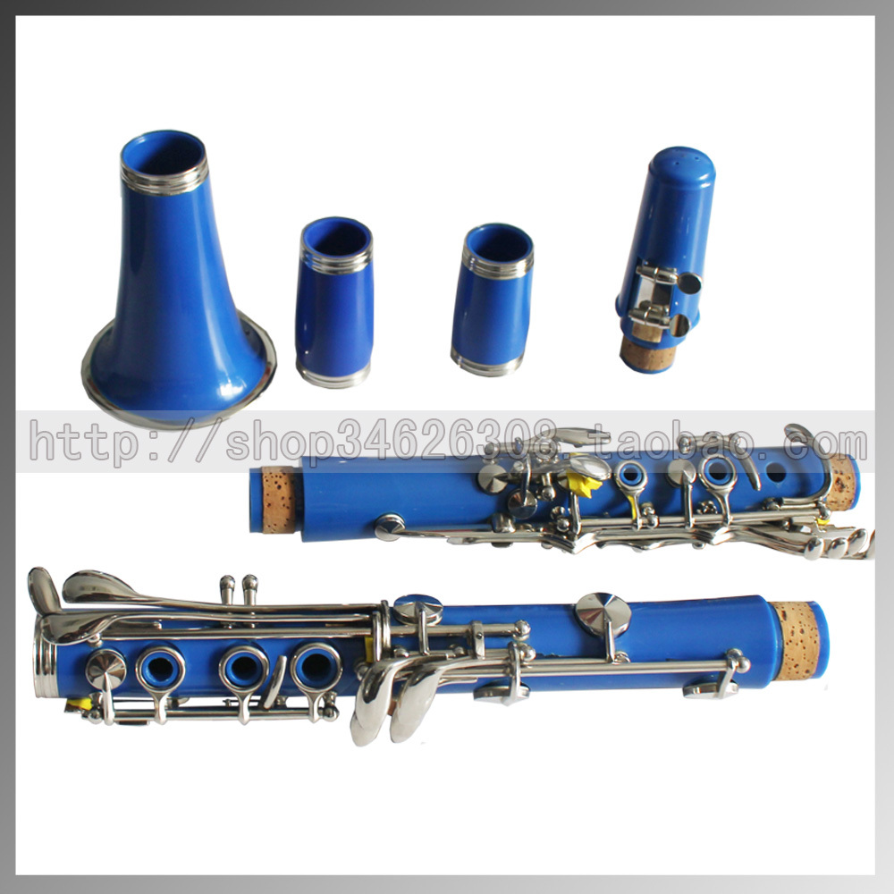 High-pitch b Bb multicolour single-reed tube blue clarinet double tube musical instrument(China (Mainland))
