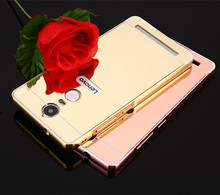 Luxury Plating Aluminum Metal Mirror Back Cover Case Lenovo K3 A6000 K4 K5 Note A7000 A7010 S90 Phone Cases - Shenzhen Nada Technology Co., Ltd. store