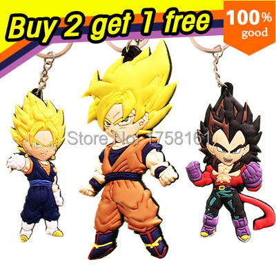 Buy 2 get 1 free dragon ball z anime cartoon goku Keychains action & toy figures pendant Key Chains Collection model toy(China (Mainland))