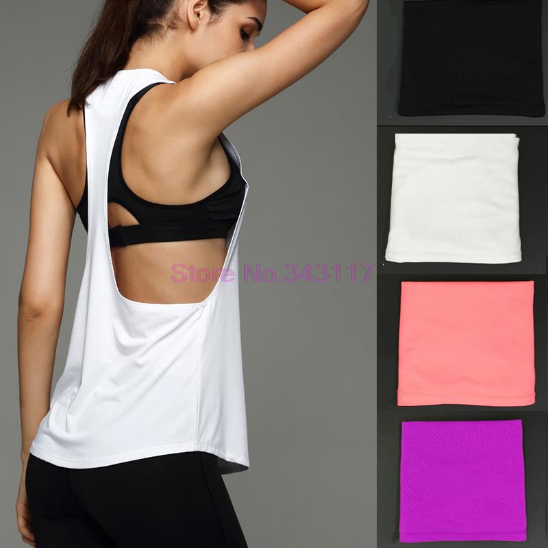 Fitness Women Yoga Shirts Running Jogging Sport Top Tank Sexy Breathable Quick Drying Gym Yoga Shirts L300<br><br>Aliexpress