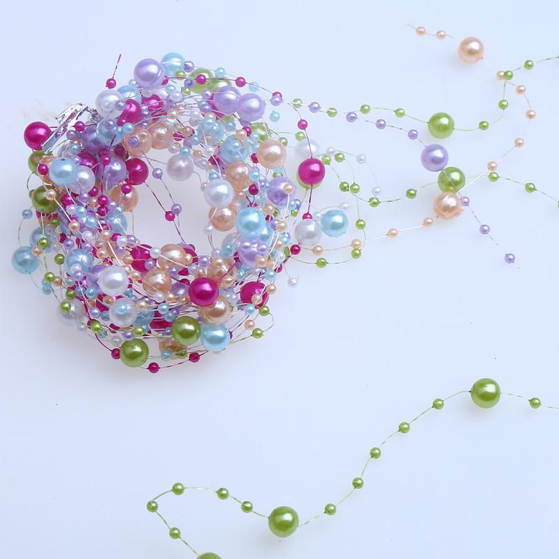 12 m 6 pcs 6 couleurs perles perles de mariage partie dcoration perle chane diy artisanat - Bon De Reduction Decoration De Mariage