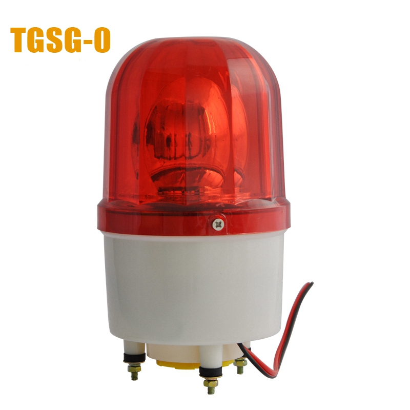 LTE-1101K DC12V Bulbs Rotary Warning Lamp with Sound 110dB Alarm Indicator Emergency Strobe Light Beacon Tower Signal(China (Mainland))