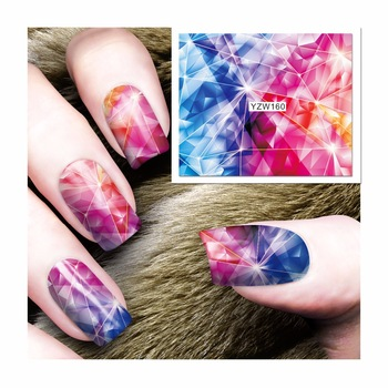 WUF 1 Sheet Colorful Magic Star Design Nail Art Sticker Water Transfer Decals Decoration 160