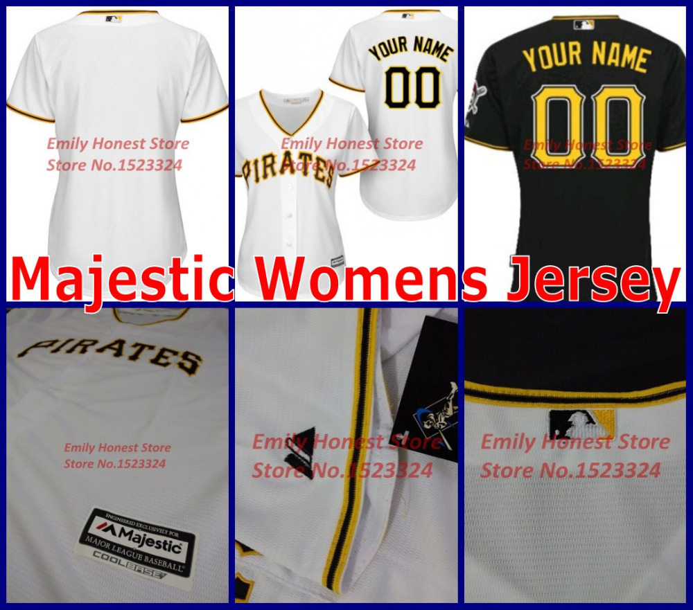 2015 Majestic pittsburgh pirates blank jerseys Authentic custom baseball jersey women mlb Personalized Alternate girls shirts(China (Mainland))