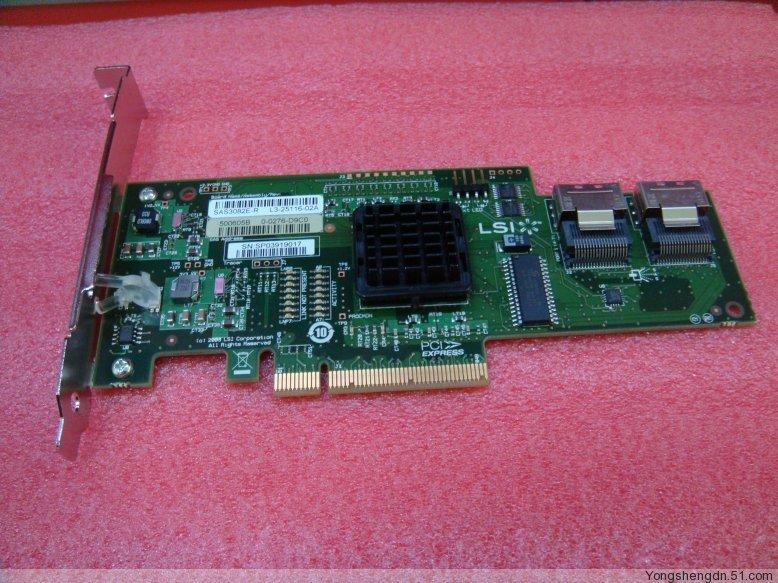 Avago LSI SAS 3082E-R New Card PCI-e X8 SATA SFF8087 Mini-SAS 36Pin 8Port RAID1.0 1Y warranty<br><br>Aliexpress