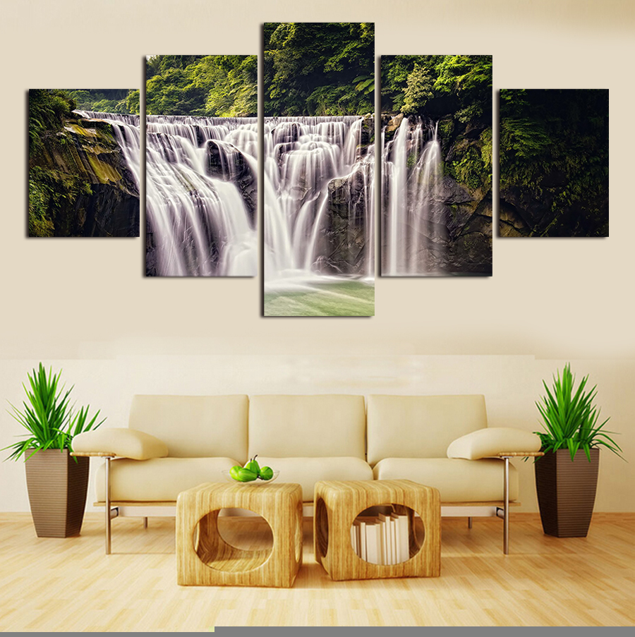 2016 Sale Large Oil Paintings Dancer Music Landscape On Canvas Handmade Still Living 5 Panels/set Decor Office Fine Artwork2(China (Mainland))