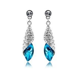 8colors AAA Austria Crystal Horse Eye Earrings sea's missing Statement women pendientes brincos de festa - Forever Beauty Jewelry store