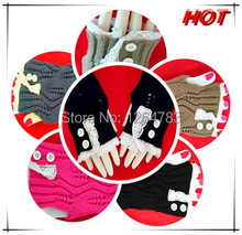 New fashion lace winter Crochet Top Gloves Knit Arm Warmers Button Top Arm Hand Fingerless & Wholesale+Free shipping(China (Mainland))