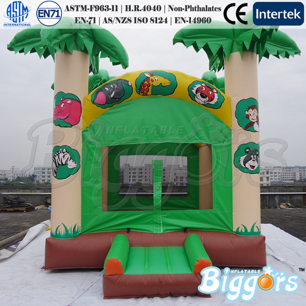 Commercial Jungle Bounce House Inflatable Bouncer Moonwalk Jumper Bouncy Castle(China (Mainland))