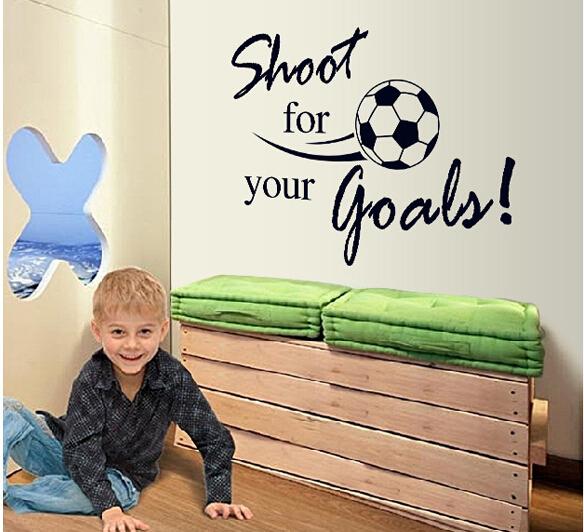 Высокое качество стрелять для ваших целей детская комната декор 8273 наклейки на футбол наклейка украшения дома