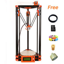 free shipping kossel diy 3d printer kit with 40m filament masking tape 8GB SD card for Free