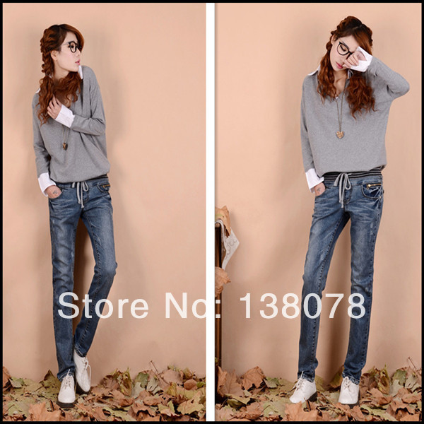 Reasonable price 2014 new style fashion women jeans/jeans women /blue jeans high heel women boots(China (Mainland))