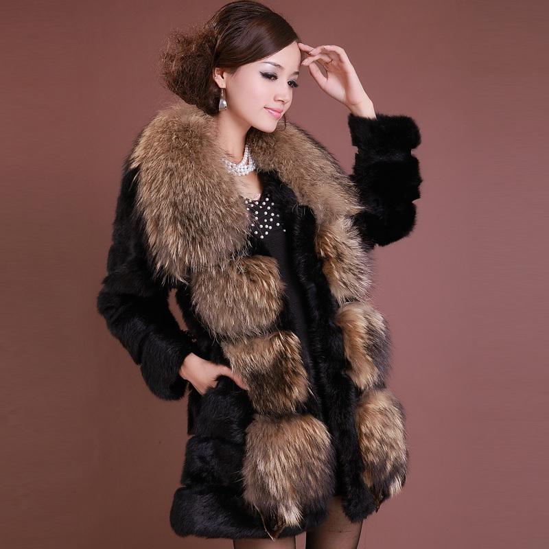 Online Get Cheap Women's Raccoon Fur Coat -Aliexpress.com ...