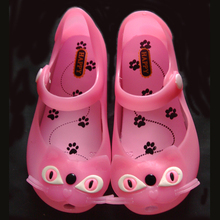 Boys and girls children's fashion sandals for mini melissa kitten jelly shoes bow shoes(China (Mainland))
