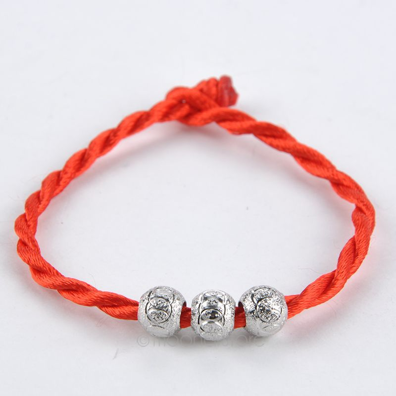 Women's Stylish Lucky Ball Bead Red Rope Line Bracelet Red Cord Cuff Bangle Hand Chain Fashion Jewelry MPJ233#Y5(China (Mainland))