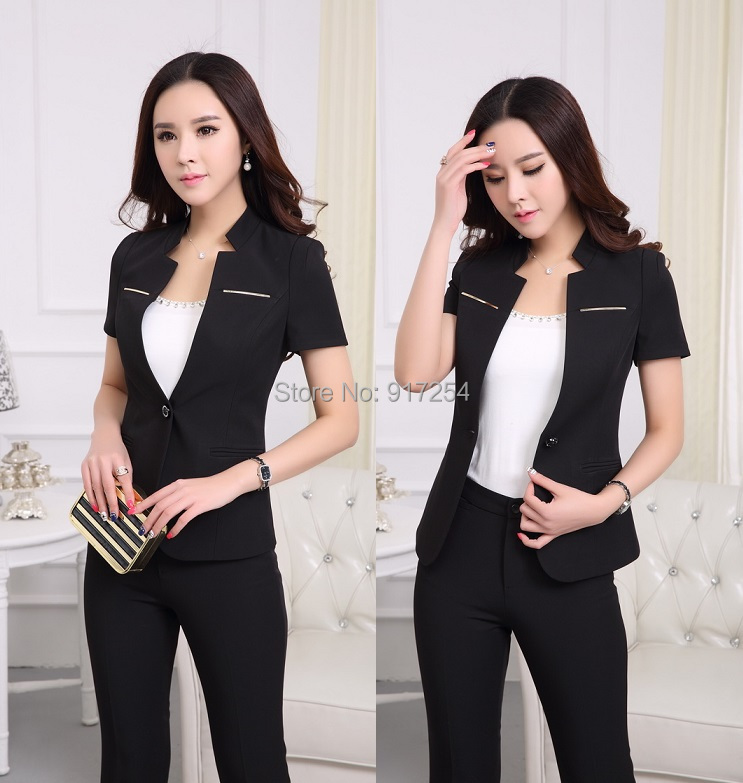 Plus Size 2015 Spring Summer Women Business Work Wear Pants Suits Trousers Suits Tops And Pants For Ladies Office Blazers SetОдежда и ак�е��уары<br><br><br>Aliexpress
