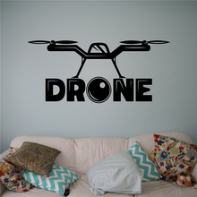 Quadcopter with Camera Wall Vinyl Decal Air Drone Wall Sticker Aircraft Home Wall Art Decor Ideas Interior Kids Room Design X102