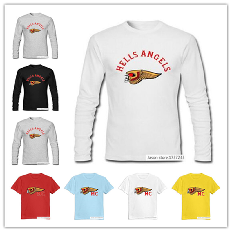Mens Hells Angels Motorcycle Club T-Shirt White US Size ,100% Organic Cotton<br><br>Aliexpress