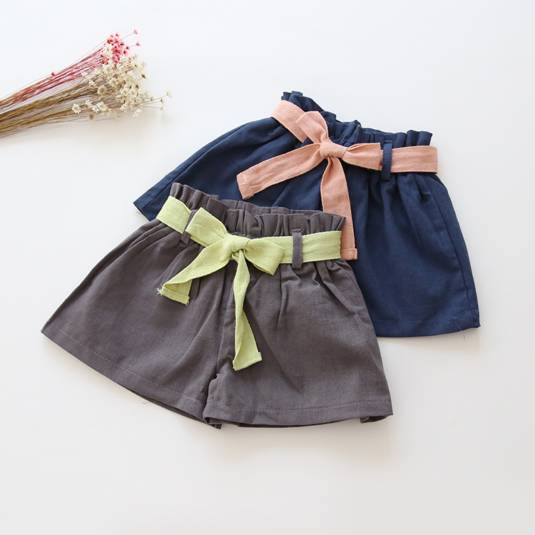2016 New Girls Shorts Summer Kids Children Hot Pants Casual Breathable Cotton Linen Fashion Shorts<br><br>Aliexpress