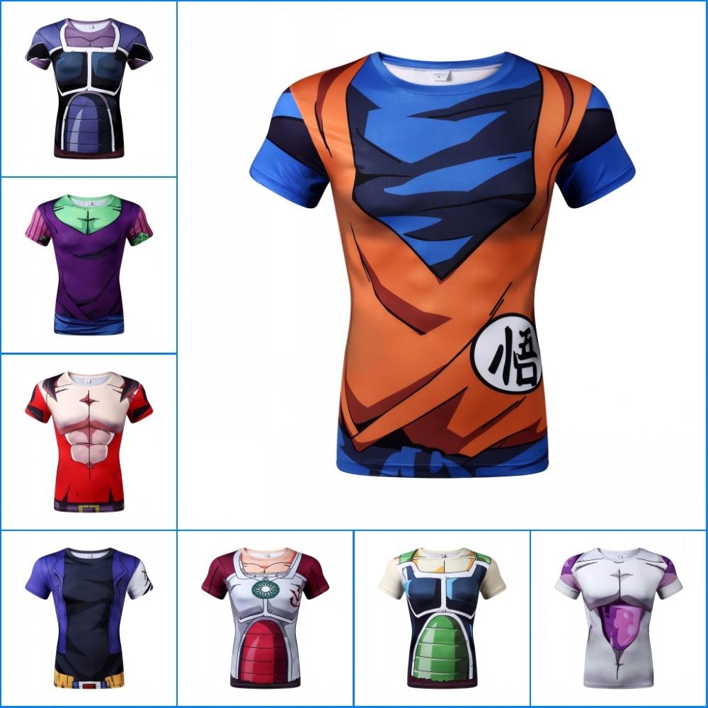 2016 Anime print t-shirt men/women 3d t-shirt funny print Dragon Ball t shirt summer tops tees mens clothes(China (Mainland))