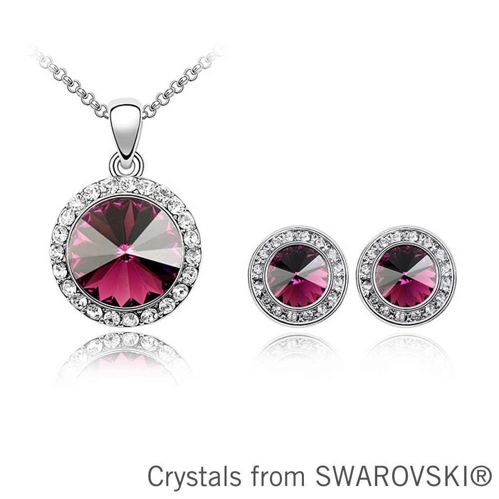Christmas gift colors round crystal necklace