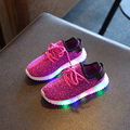 Hot sale Led Shoes for Children Colors Luminous Lightweight Boys Girls Breathable Weave Sneaker Kids Casual