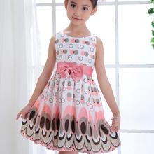 Girls Kids girl dress Princess Bow Tutu Dress One Piece Tops Pageant Tulle shaqun 2-7 years