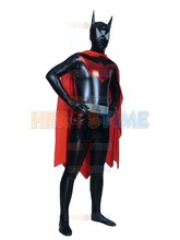 Batman Superhero Costume shiny metallic fullbody adult halloween cosplay costumes for men zentai suit