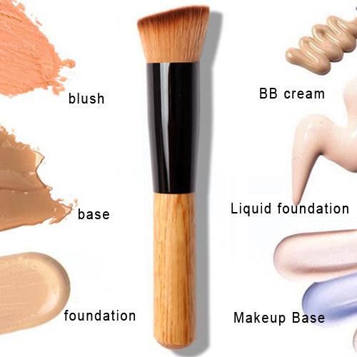 1 PCS High Quality Powder Brush Wooden Handle Multi-Function Blush & Foundation & Powder Brush Makeup Tool Free Shipping(China (Mainland))