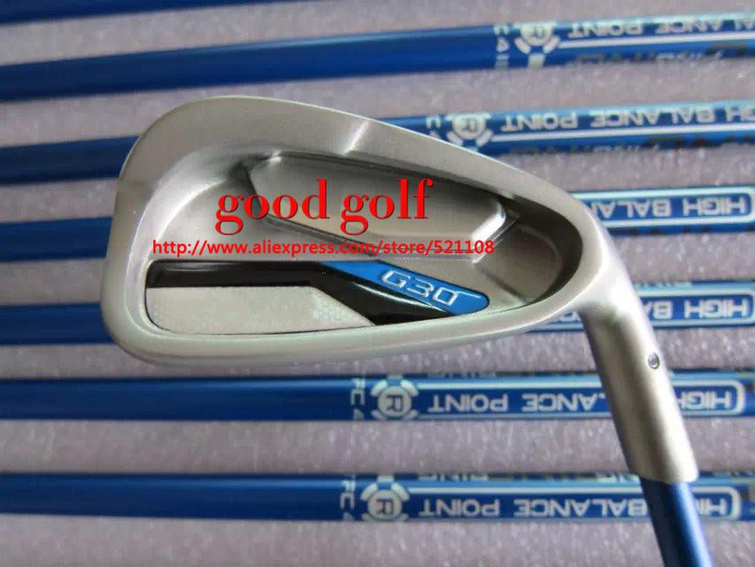 2015 Hot Golf G30 Irons golf Set With TFC419I graphite shaft regular Flex Golf G 30 Irons Clubs With Head Cover<br><br>Aliexpress