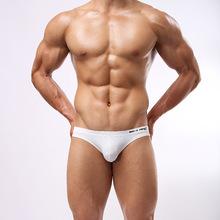 Free Shipping 2015 Hot Stylish Men s Swim Briefs Swimwear Swimsuit Fashion Solid Letter Printed Beachwear
