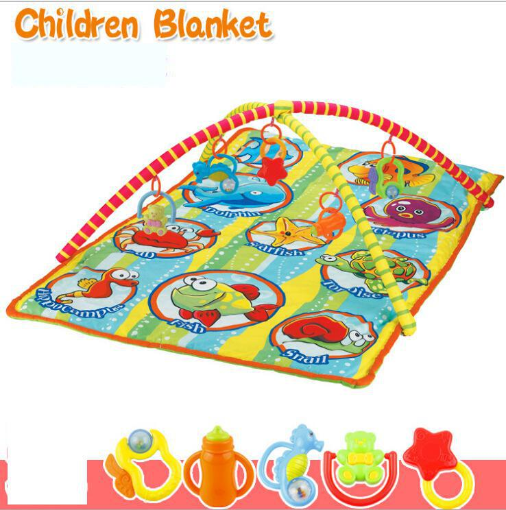 Baby Toy Pad Fitness Blanket Game Send 5 Bells Play Mat Toys Mothercare Gym Kids Carpet 145CM*90CM*56CM(China (Mainland))