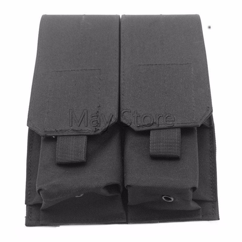 Black Utility Tactical Military 600D Nylon Double Magazine Pouch Can be add on Tactiacl Vest M4 Mag Pouch Small Bag(China (Mainland))