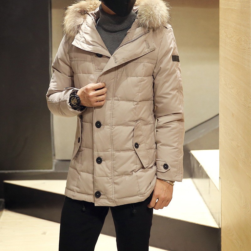 Winter Jackets Mens Men Hot Sale Top Duck Polyester Slim Thick Solid 2016 In The Long