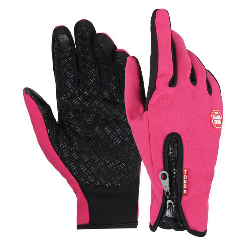 Гаджет  Winter sport windproof waterproof Women ski gloves black -30 warm riding glove Motorcycle Camping Leisure Thermal Mittens Men None Спорт и развлечения